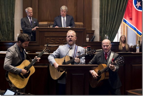 5/10/2017 State Senator Paul Bailey honors Dailey & Vincent in the State Senate