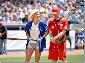 NASHVILLE, TN - JUNE 10: Savannah Chrisley and Bobby Bones show off their softball skills for charity at the 27th Annual City of Hope Celebrity Softball Game at First Tennessee Park on June 10, 2017 in Nashville, Tennesse  (Photo by John Shearer/Getty Images for City Of Hope)