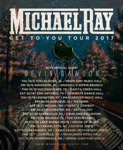"""Michael Ray Announces 2017 """"Get To You Tour"""""""