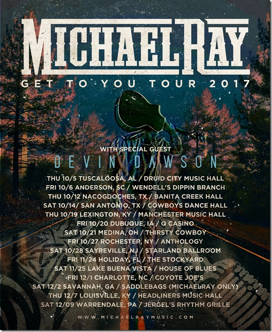 Michael_Ray Tour Poster