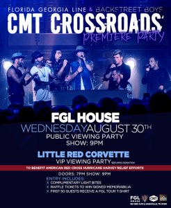 FGL House to host official viewing party for CMT Crossroads premiere while serving up relief for Houston