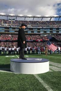 Trace Adkins says a highlight of 2017 was singing at the New England Patriots game
