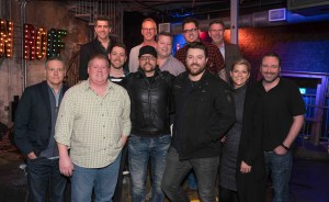 "Chris Young celebrates 10 No. 1 singles with party and live performance at ""Ten"" Roof Broadway in Nashville"