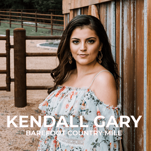 "Rising country singer-songwriter Kendall Gary releases lyric video for latest single ""Barefoot Country Mile"""