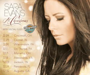 "Sara Evans returns for another holiday season of her ""At Christmas Tour"" for  2018"