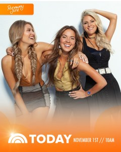 Tune-In:  Runaway June tapped for morning television debut on NBC's TODAY (11/1)