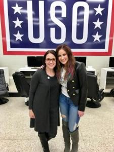 Chelsea Bain visits USO