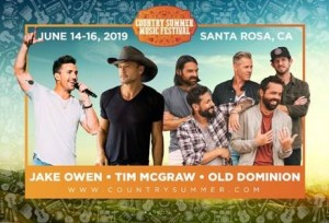 Tim McGraw, Jake Owen and Old Dominion Headline Country Summer 2019 in Northern California