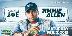 Jimmie Allen, The Cadillac Three, & Resurrection take the stage In January & February At Cotton Eyed Joe