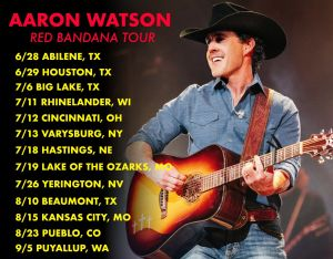 """Aaron Watson launches """"The Red Bandana Tour"""" in conjunction with release of new album"""