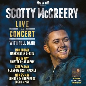 Scotty McCreery will return to the UK this May