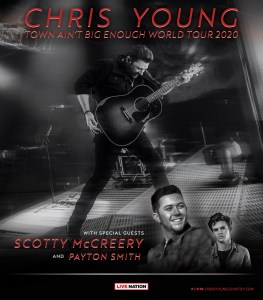 "Chris Young adds dates to ""Town Ain't Big Enough World Tour 2020"""