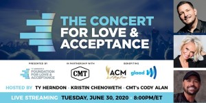 Jake Owen, Everette, Brody Ray join Concert for Love & Acceptance lineup