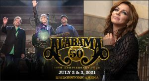 "ALABAMA enlists Martina McBride for Nashville ""50th Anniversary Tour"" Concerts"