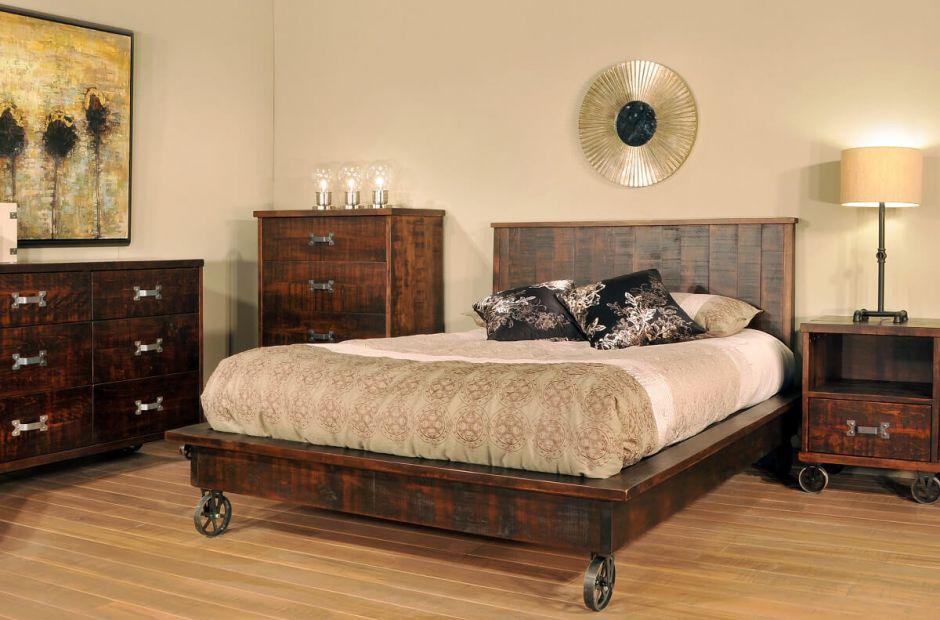 Pembroke Industrial Bedroom Set Countryside Amish Furniture