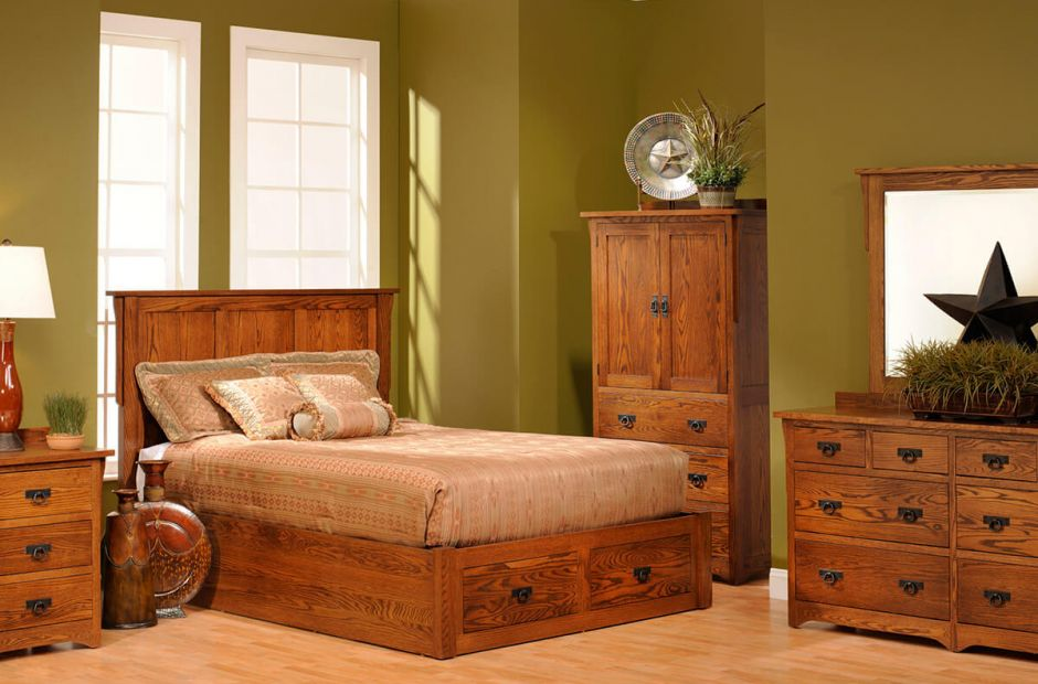 Amish Bedroom Furniture Sets Luxury Mission Bed Solid Wood Post