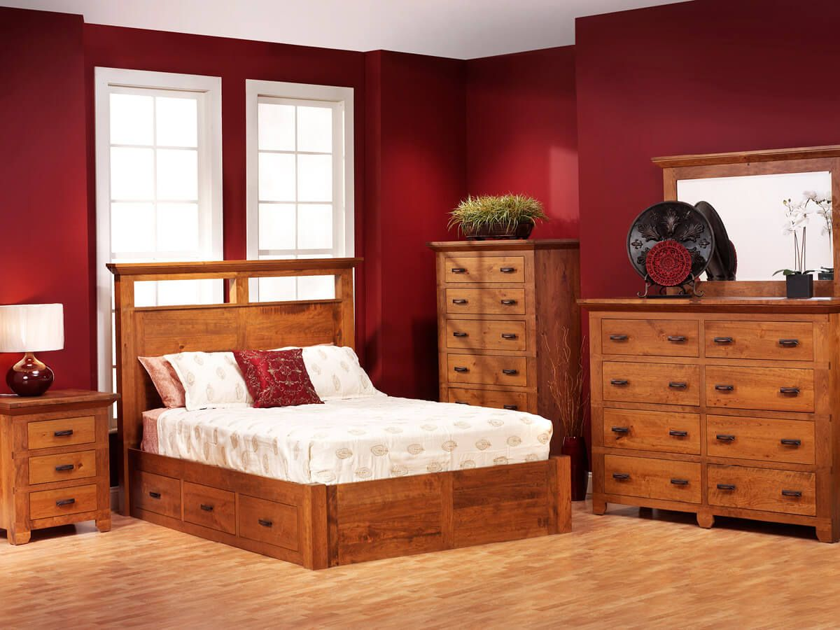 Roswell Rustic Bedroom Armoire Countryside Amish Furniture