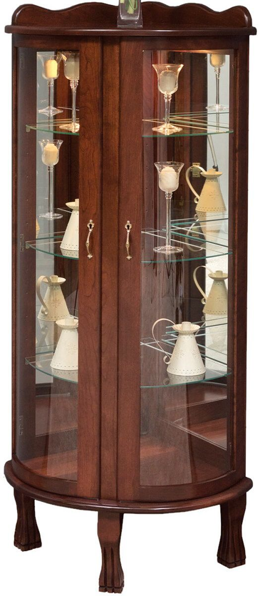Gallery Queen Anne Curio Cabinet Countryside Amish Furniture
