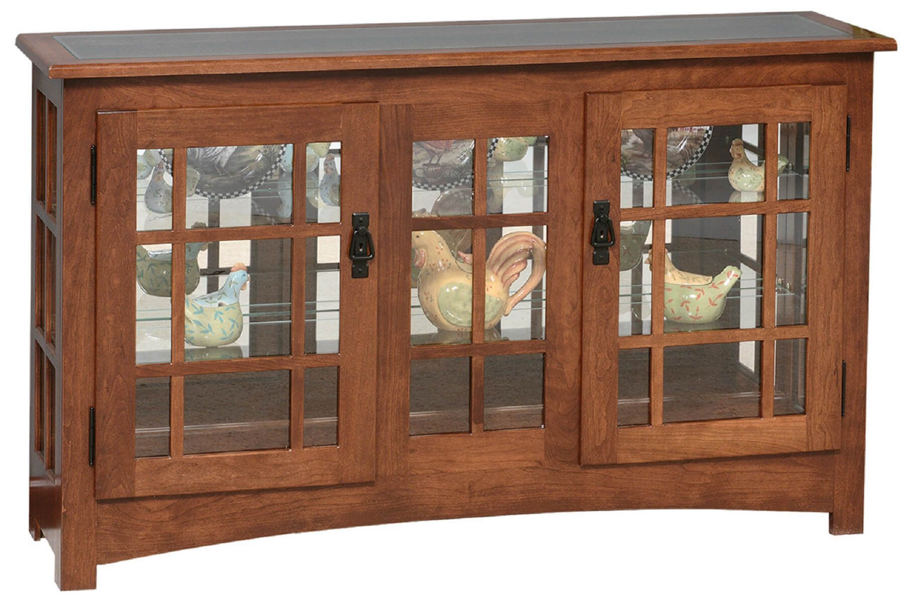 Newton Large Mission Curio Cabinet Countryside Amish
