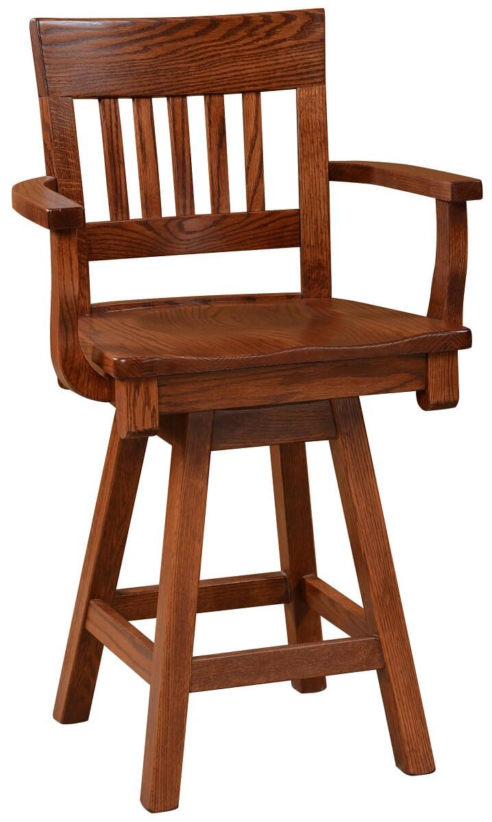 Jonesborough Counter Height Swivel Chair Countryside Amish Furniture