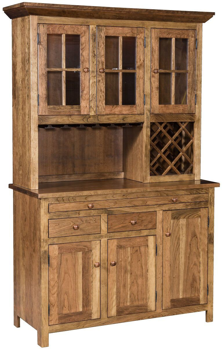 Pleasant Hill Hutch And Wine Rack Countryside Amish