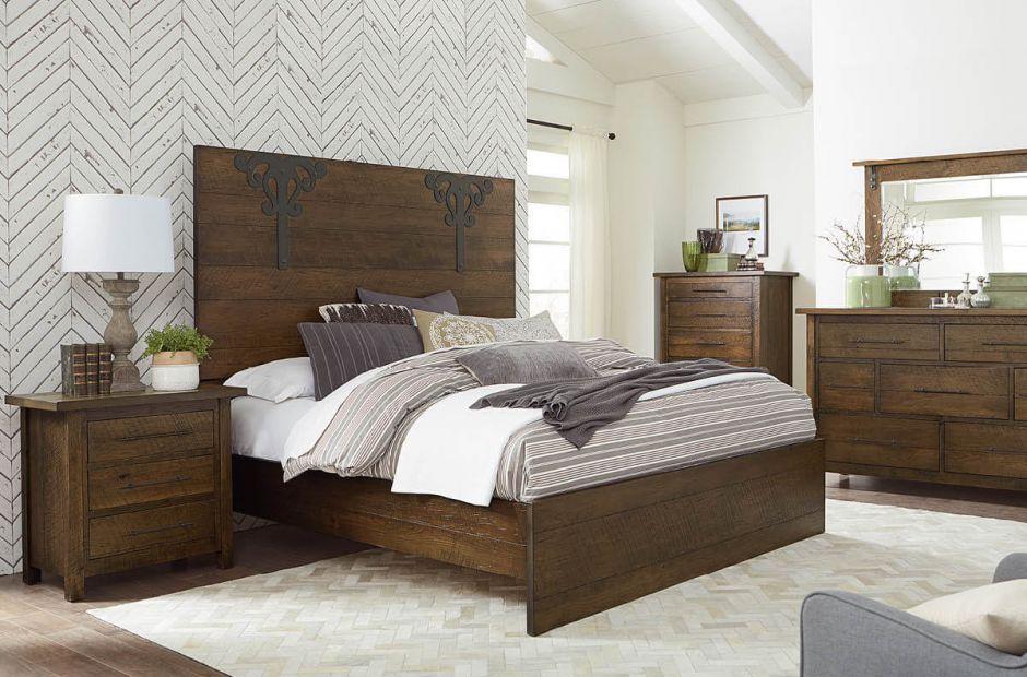 cuba rustic wood bedroom set