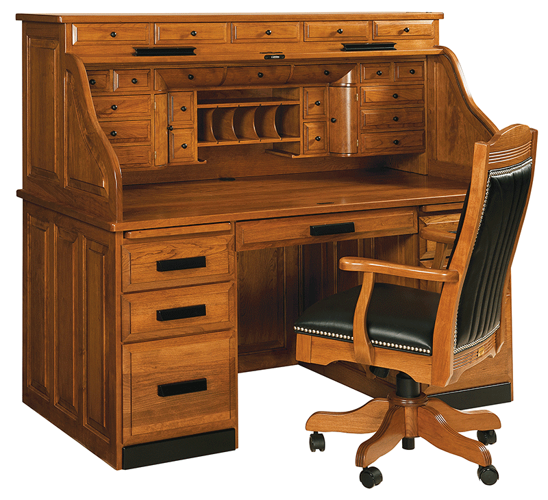 Deans Deluxe Roll Top Desk Countryside Amish Furniture
