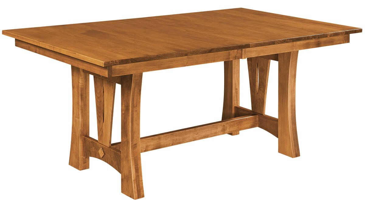 Clover Contemporary Trestle Table Countryside Amish
