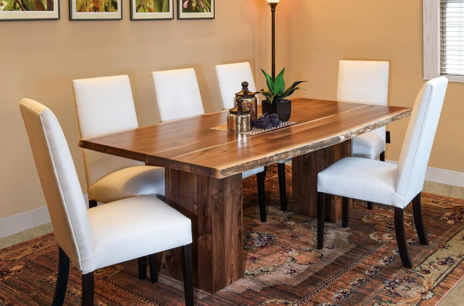 Valley Trail Live Edge Dining Room Set Countryside Amish