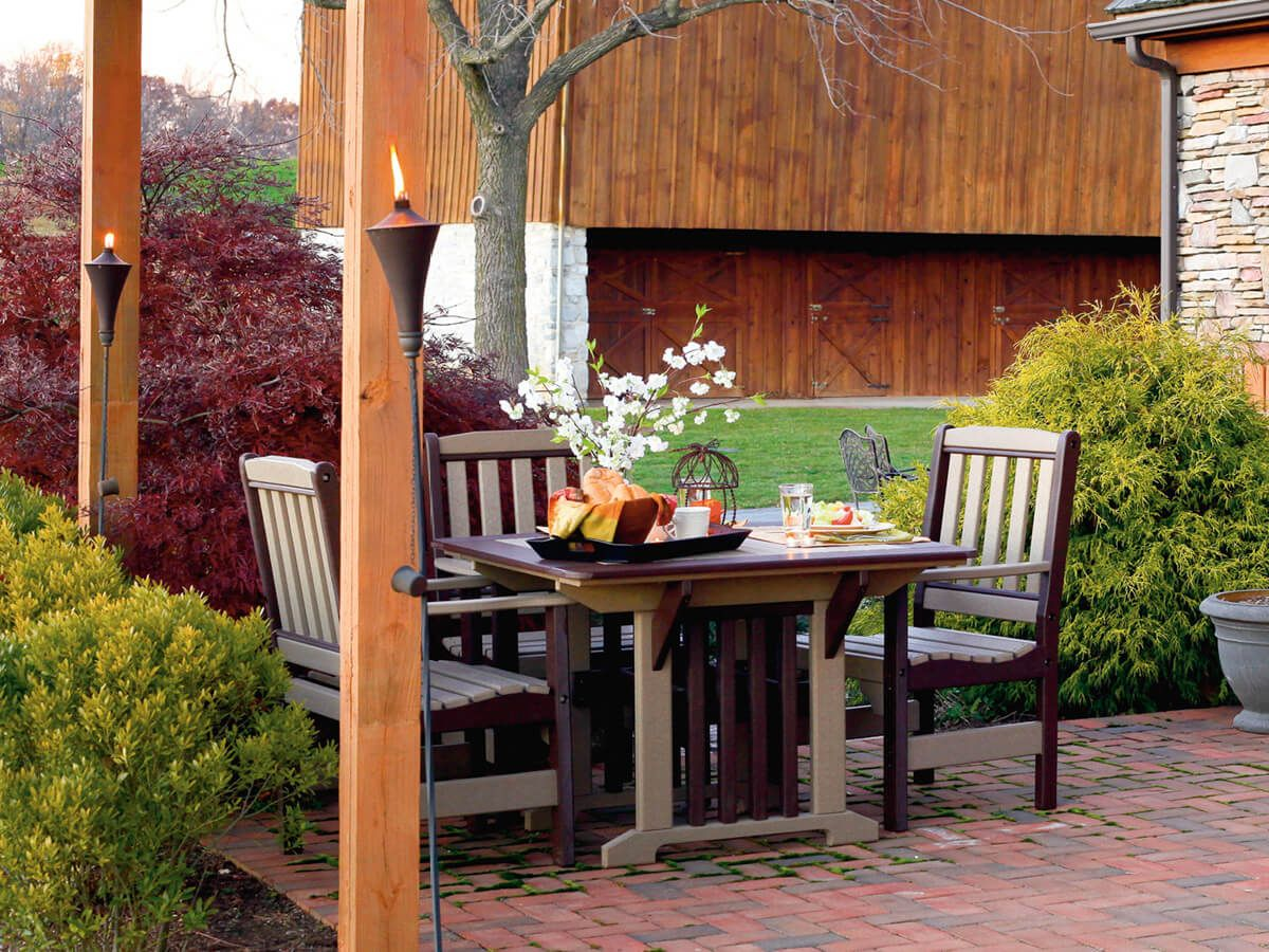 Cavendish Outdoor Dining Table Countryside Amish Furniture
