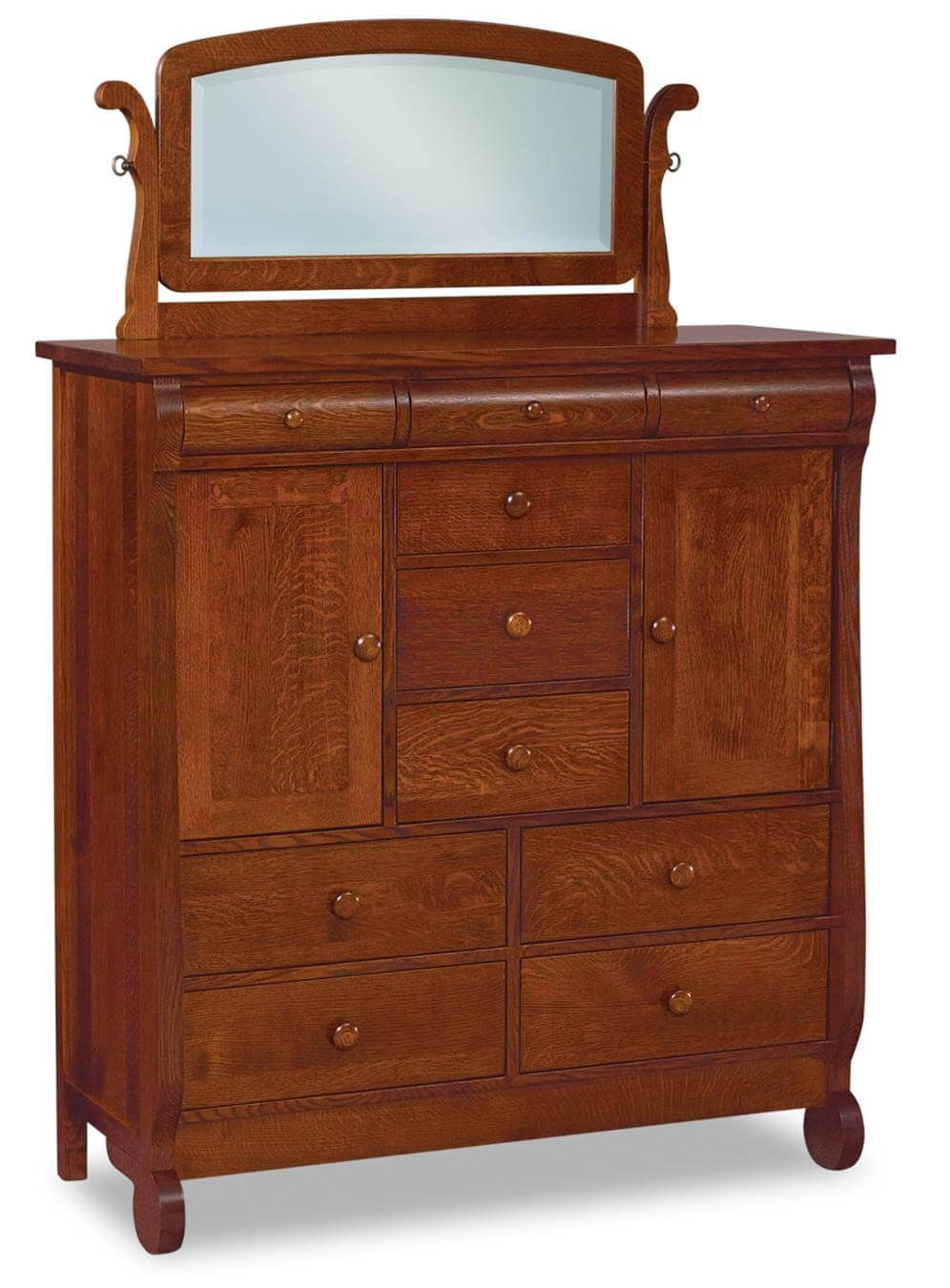 Victoria Sleigh Bedroom Chest With Mirror Countryside