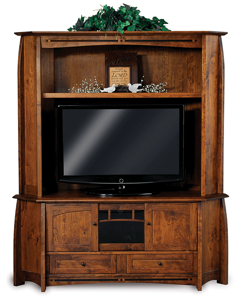 Coronado Corner Entertainment Center With Hutch