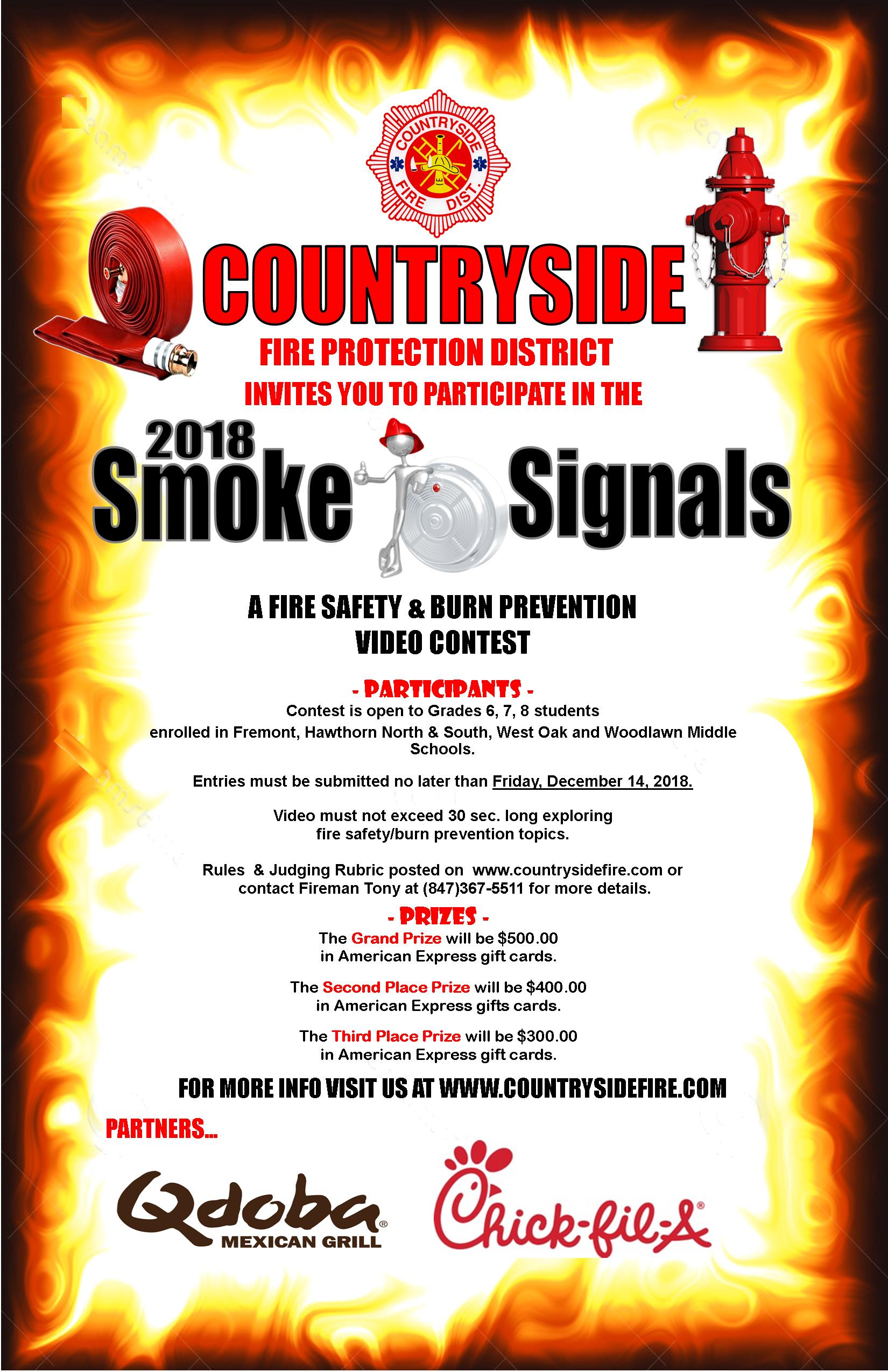 Middle School Smoke Signals Fire Safety Amp Burn