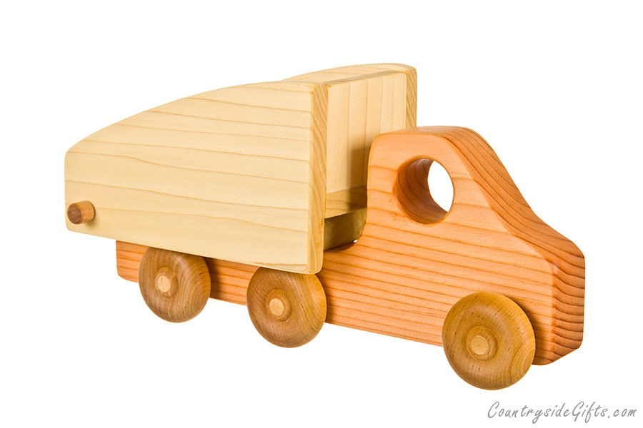 Wooden Trucks Toys And Joys : Wooden toy dump truck countryside gifts llc