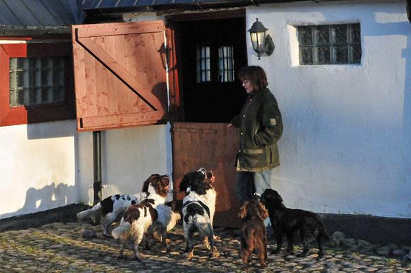 Tina med sina hundar. Fotograf Åsa Norrby.