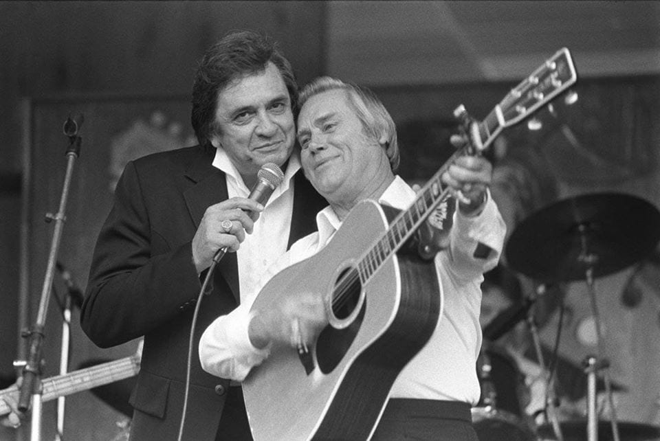 Johnny Cash and George Jones