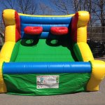 inflatable basketball shoot rental