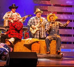 HeeHaw performers on stage at Country Tonite