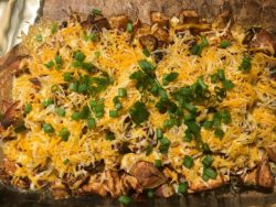 cheesy chicken and potatoes