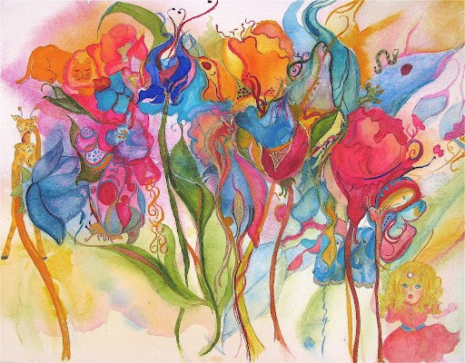 watercolor-flower - forest