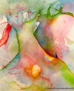 watercolor two trees #1