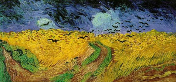 Wheat Fields with Crows van gogh