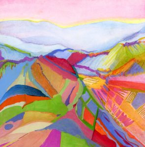painting abstract landscape