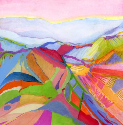 Abstract Landscape of Vineyard Lands