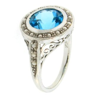 Swiss Blue Diana Ring