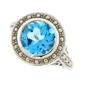 Swiss Blue Diana Ring