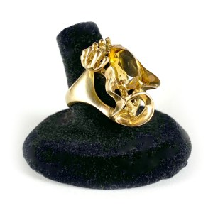 Dadaist Gold & Citrine Ring