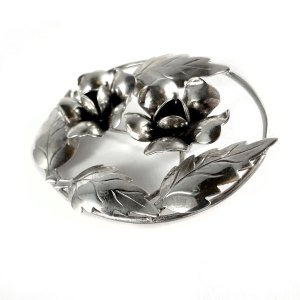 Sterling Floral Pin