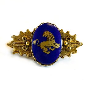 Rampant Lion Scarf Clip