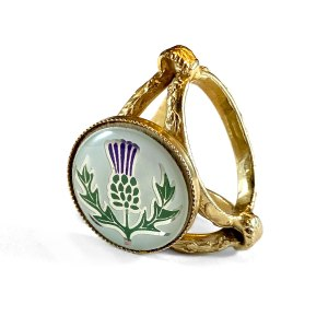 Vintage Thistle Scarf Ring